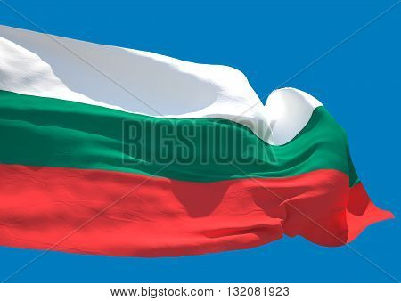 Bulgaria wave flag HD Republic of Bulgaria