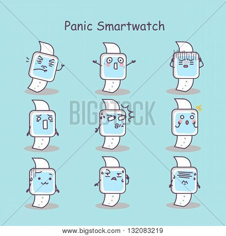 Panic cartoon smart watch set great for your design
