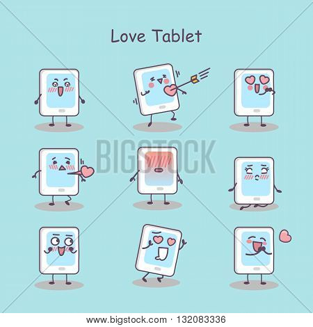 Love cartoon digital tablet pc set great for your design