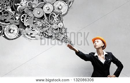Female architect woman