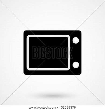 Microwave Icon Vector Black On White Background