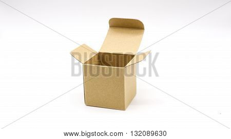 a paper container with a flat base and sides, typically square or rectangular and having a lid.