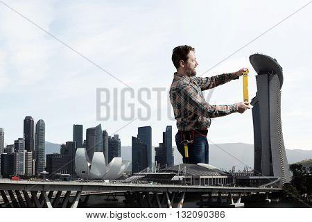 Adult engineer man