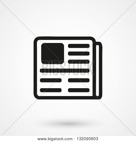 Press Icon Vector Black On White Background