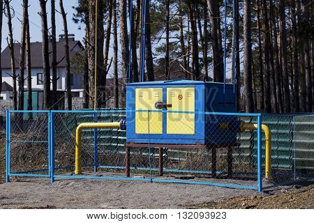 the gas distribution point is fenced a fence