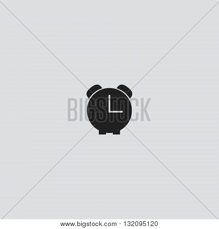 Alarm clock Vector. Alarm clock logo. Alarm clock Sign.