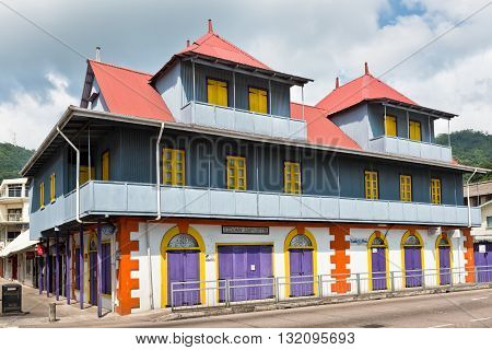 Building On The Streets Of Victoria, Mahe, Seychelles