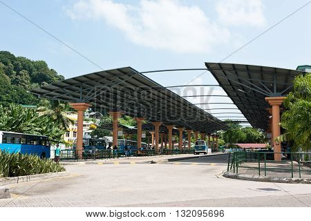Bus Station Terminal In Victoria, Mahe, Seychelles