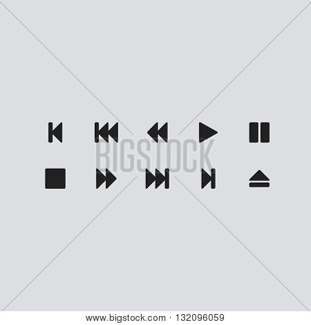 Media Player Icon Vector. Media Player  logo. Media Player Sign.