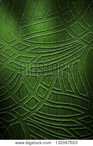 DARK GREEN, ABSTRACT MODERN RAISED PATTERN ON PAPER , HIGHLIGHTED COLORFUL LUXURY BACKGROUND