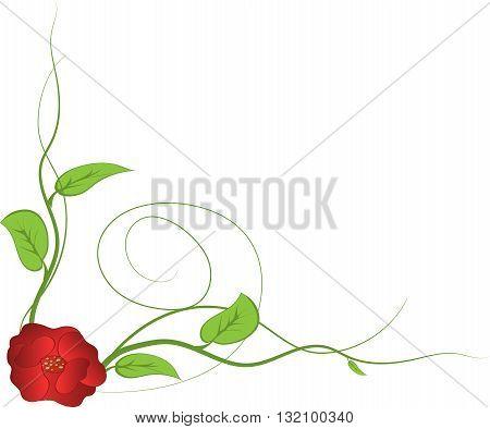 Cute black floral card background. vector illustration
