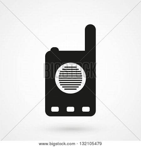 Walkie-talkie Icon Vector Black On White Background