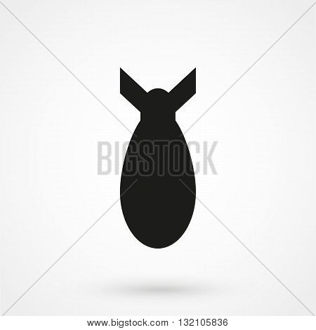 Air Bomb Vector Icon Black On White Background