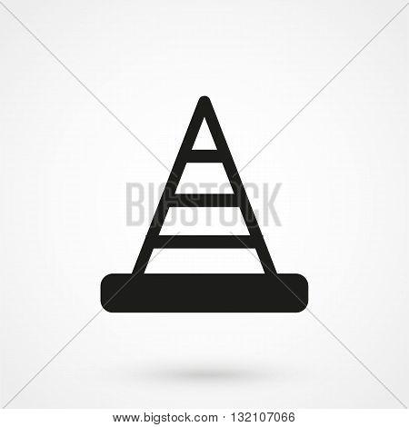 Cone Icon Vector Black On White Background