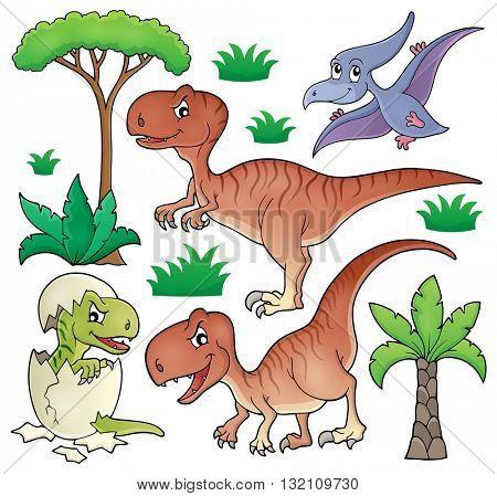 Dinosaur topic set 1 - eps10 vector illustration.
