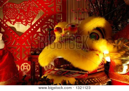 Chinese Dragon And Scissor Cut Artworks