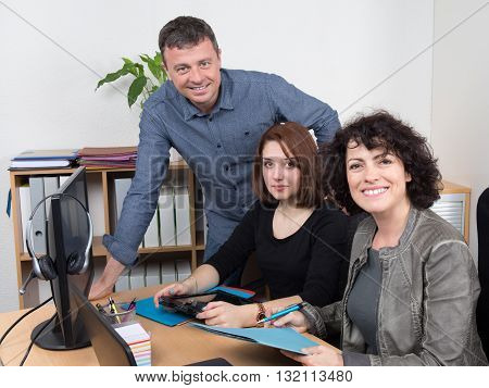 People In Business Meeting Working Together At Office