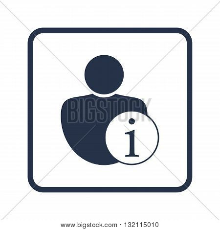 User Info Icon In Vector Format. Premium Quality User Info Symbol. Web Graphic User Info Sign On Blu