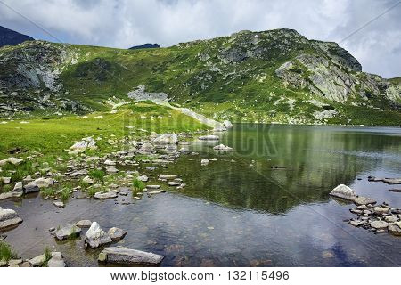 Amazing Panoramic view of The Trefoil, Rila Mountain, The Seven Rila Lakes, Bulgaria