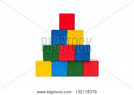 Wooden Colorful Building Blocks.