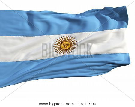 Flag Of Argentina, Fluttering In The Wind