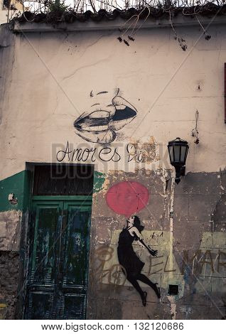 graffiti in the city of  in Buenos Aires