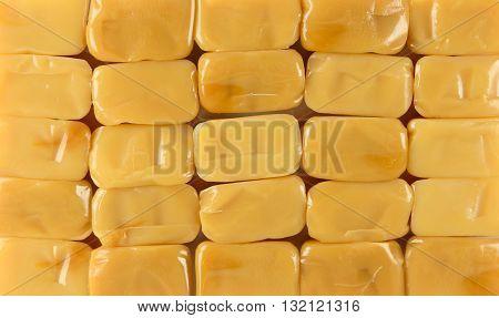 Caramel toffee texture background . design element