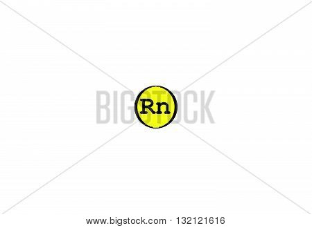 Radon is a chemical element with symbol Rn. It is a radioactive colorless odorless tasteless noble gas. illustration