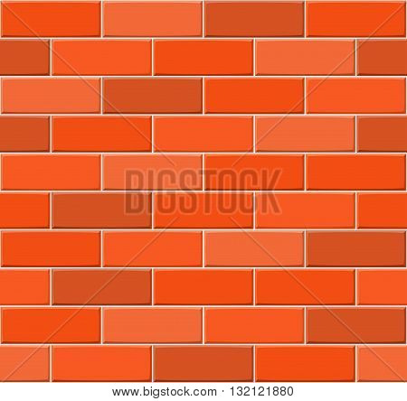 Cartoon Hand Drown Multicolored Seamless Brick Wall Texture. Vector Illustration