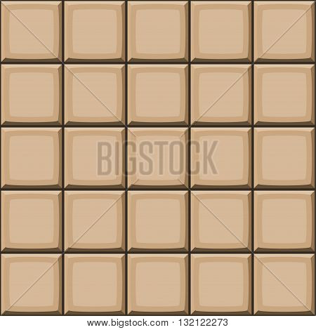 Cartoon Hand Drown Beige Seamless Tiles Texture. Vector Illustration