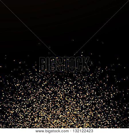 Abstract confetti background golden confetti round confetti pieces at the bottom