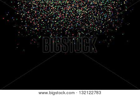 Abstract confetti background with falling confetti square confetti pieces