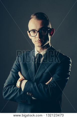 Handsome Guy In Glasses And Jacket
