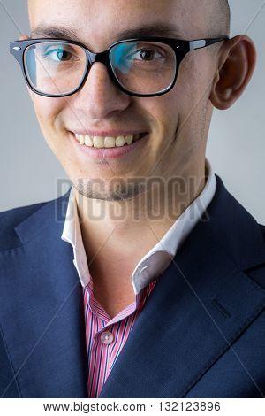 Smiling Guy In Glasses