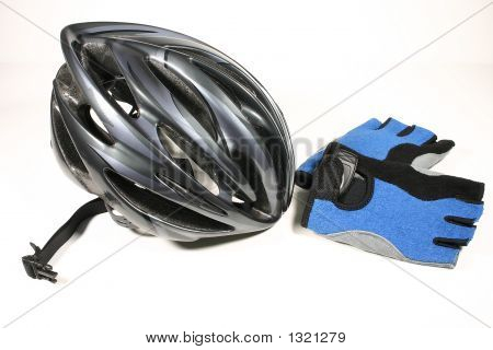 Bicycle Helmet And Gloves