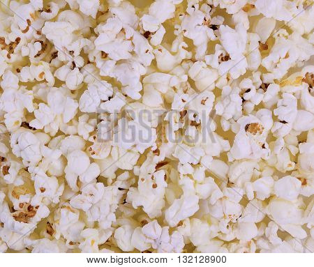 Air crunchy popcorn . Background macro texture