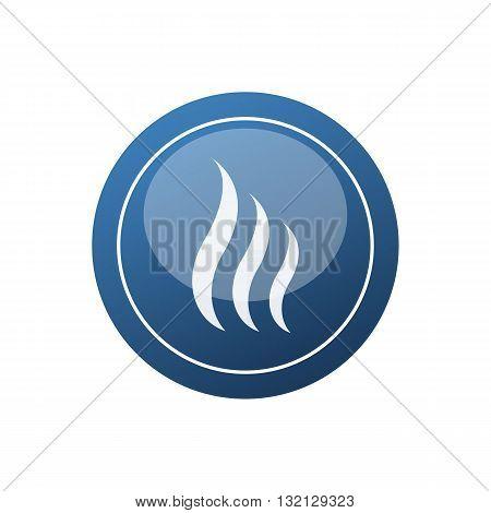 Stylized blue sauna icon vector illustration isolated on white background.