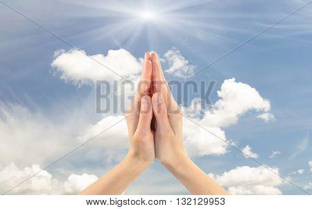 Praying Hands Of Man