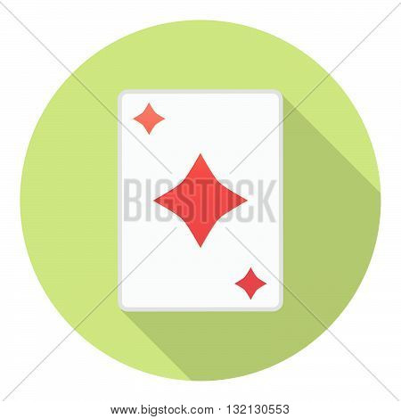 Lesure Games Playing Card Diamonds Suit Symbol