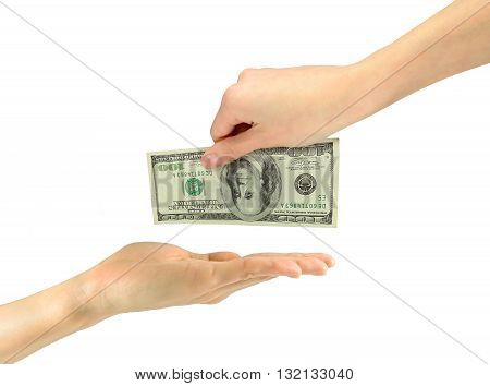 Image Of Human Hands Taking Bribe