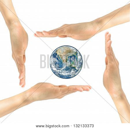 Planet Earth In The Hands Nasa