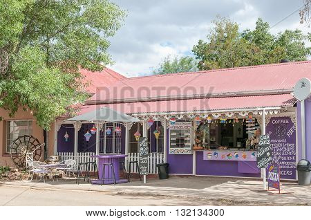 TROMPSBURG SOUTH AFRICA - MARCH 8 2016: A road stall in Trompsburg a small town in the Free State Province.