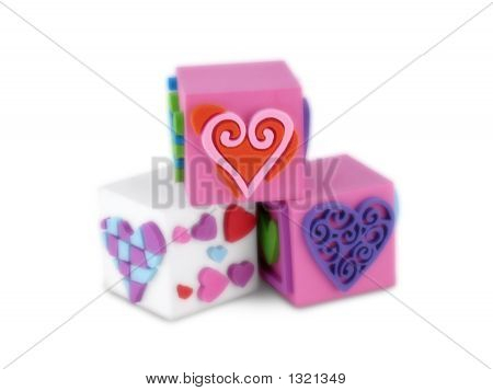 Trio Blocks Of Hearts