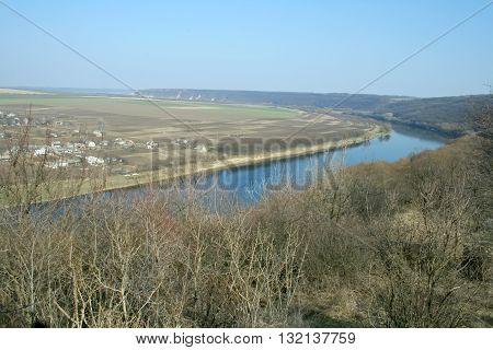 Landscape of Soroca with Nistru river, Republic of Moldova