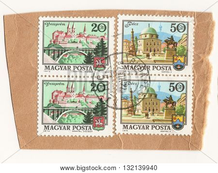 Hungary 1973 set of postage stamps on the theme Magyar Hungarian Post