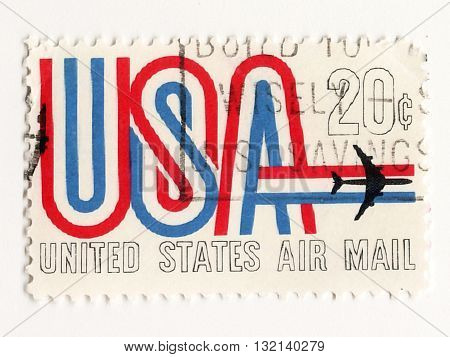 USA circo 1970 Postage stamp United States Air Mail