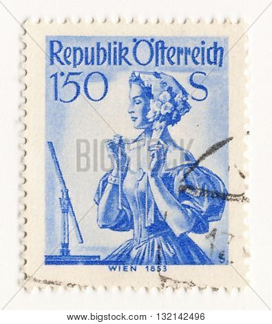 Austria circa 1960 postage stamp of Austria Airmail Post