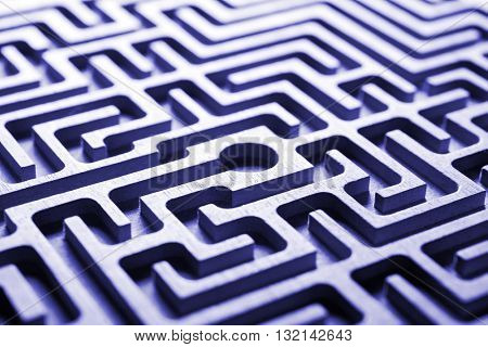 labyrinth, blue light