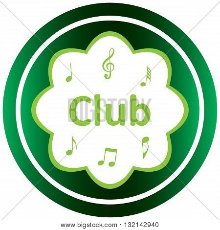 Green icon with music notes and the musical style