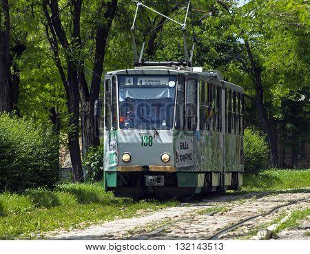 PYATIGORSK,RUSSIA - MAY 31: Pyatigorsk Trolley route 4